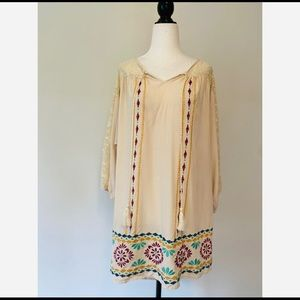 Flying Tomato Oversized Tunic  Floral And lace